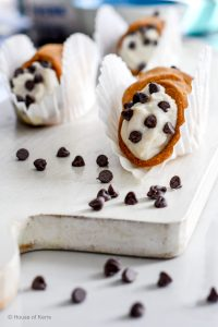 Homemade Italian Cannoli Recipe Simplified with pre-made pastry shells | with chocolate chips for Easter | Edible Gift Ideas