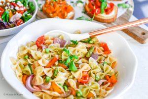 Rainbow Roasted Vegetable Pasta Primavera Recipe