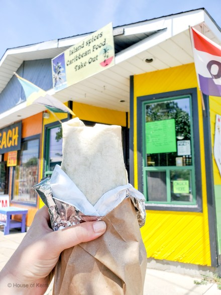 Jerk Chicken Wraps at Island Spices Caribbean joint off Main Street Grand Bend