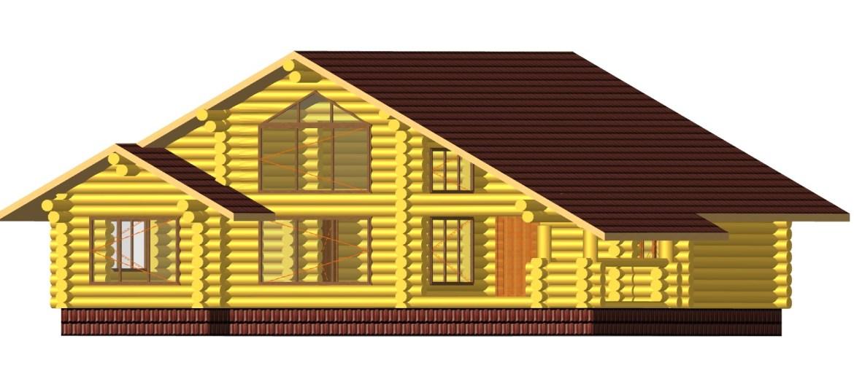 дървена къща от цилиндровани трупи