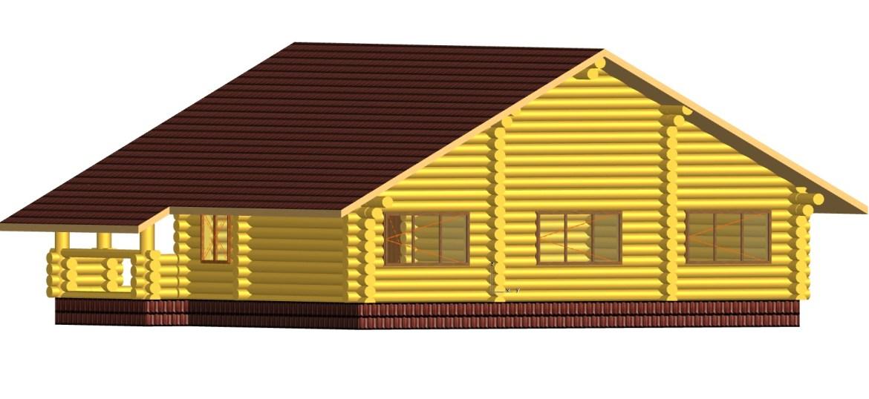къща от дървени трупи