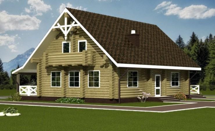 сглобяема къща от дървени трупи