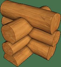 Руска сглобка на механично цилиндровани дървени трупи