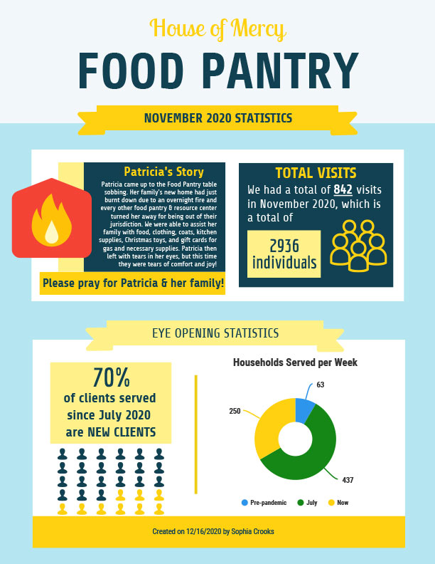 NOV 2020 Food Pantry EOM Report