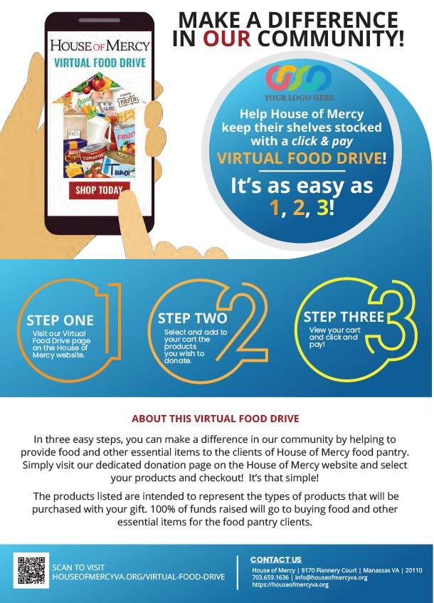 Virtual Food Drive Sample Flyer