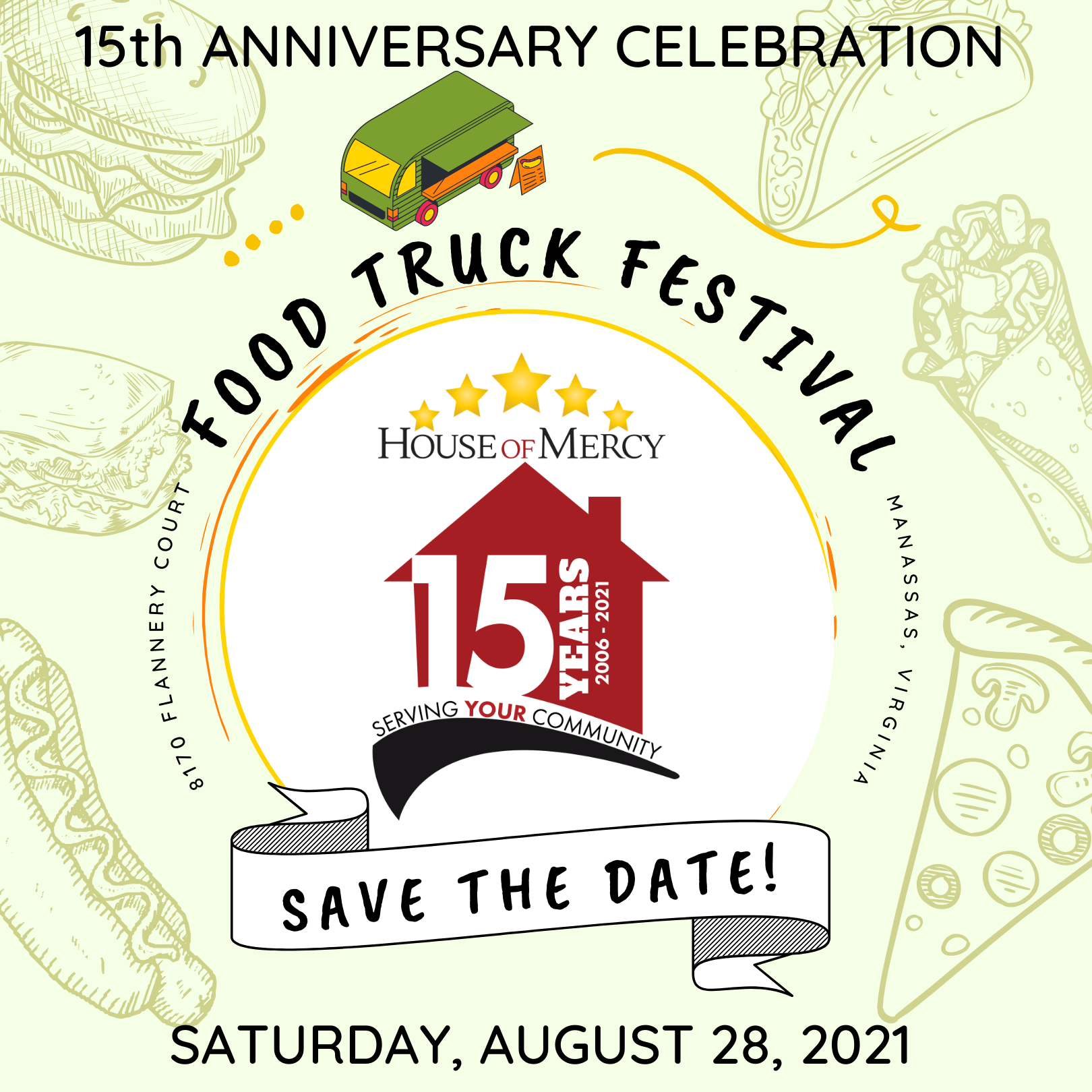 SAVE THE DATE! 15th Anniversary Food Truck Festival