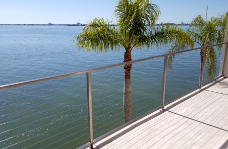 Seaside Aluminum Wire Railing