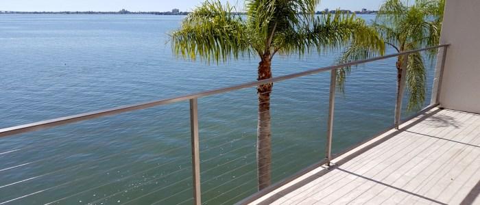 Seaside Aluminum Wire Railing