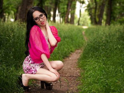 asian girls wearing glasses