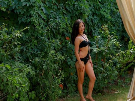 hot asian babe in lingerie