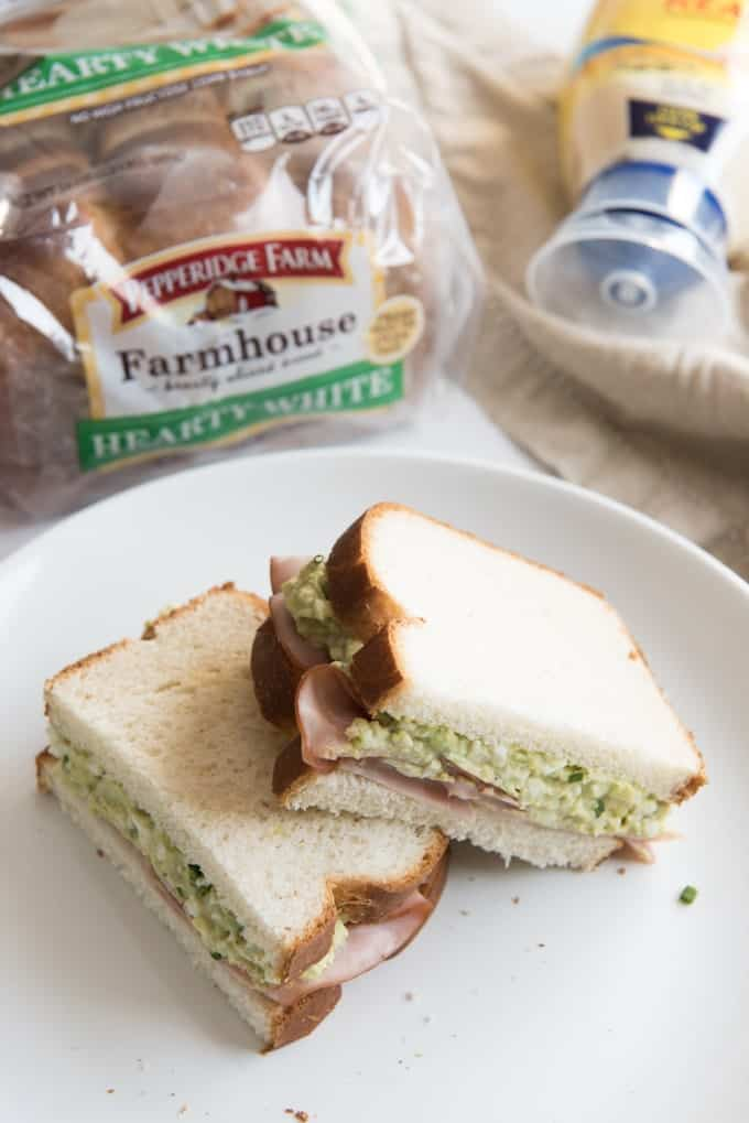 Inspired by one of our favorite children's books, this Green Eggs & Ham Sandwich is light, delicious, and perfect for Spring!