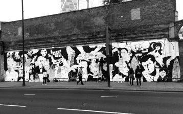 Shoreditch Art wall with Benjamin Murphy and 616 - copyright © PANG - All rights reserved