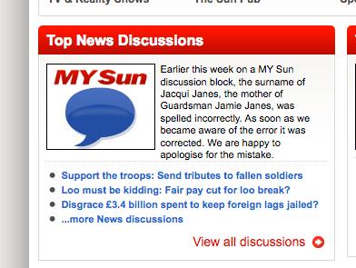 sun typo apology