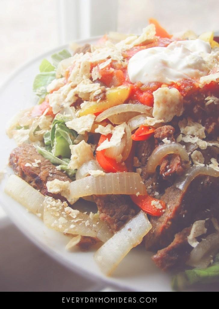 Fajita Salad With Pepsi Marinated Steak