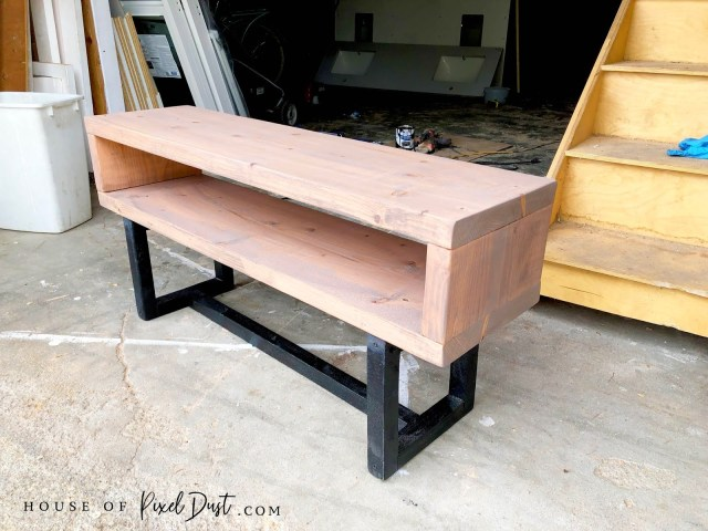 almost finish modern coffee table natural wood pine bench