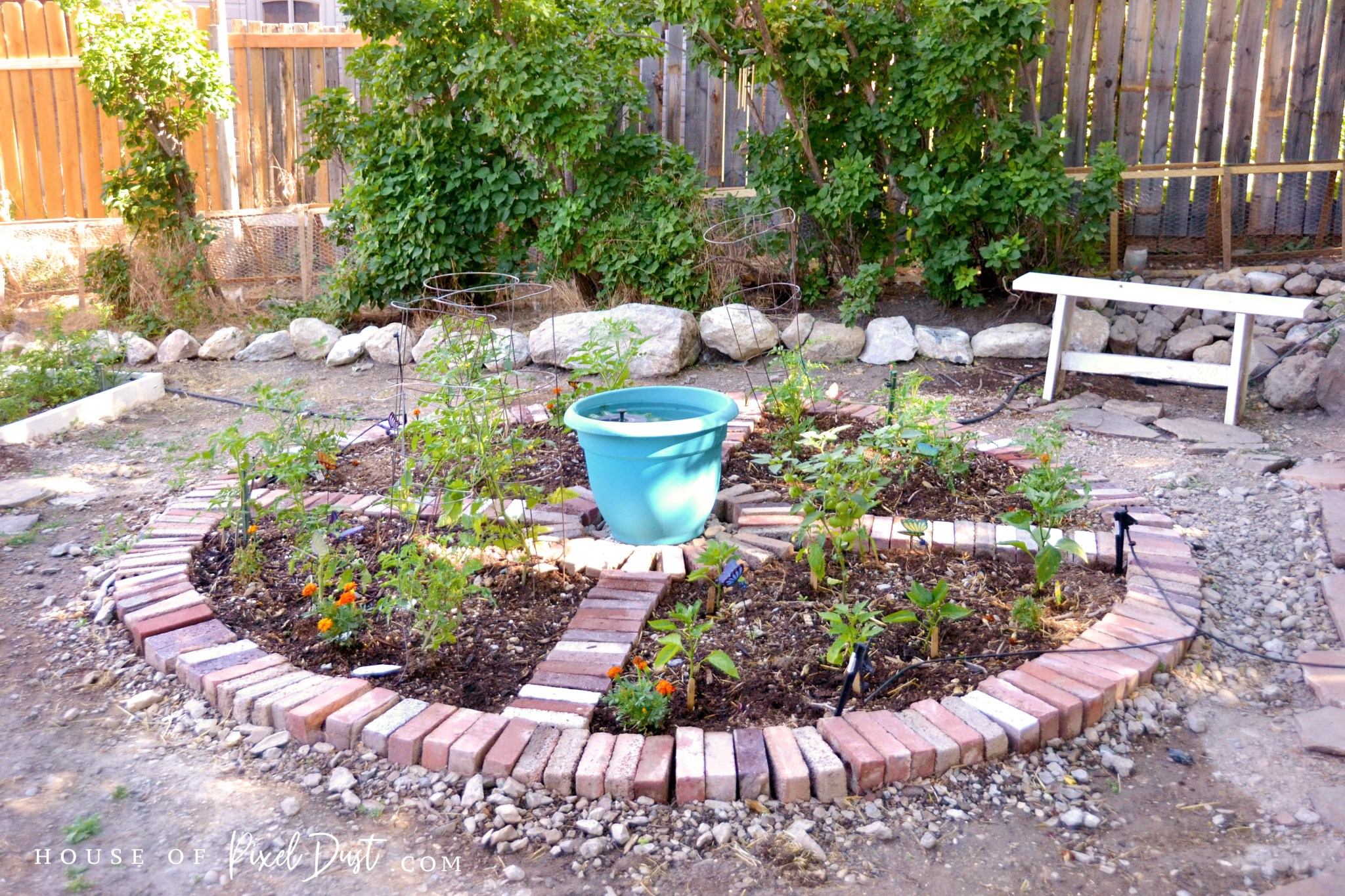 This image has an empty alt attribute; its file name is diy-compass-garden-bed-makeover-02.jpg