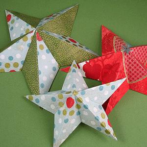 3D paper stars craft