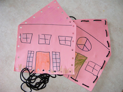 easy threading kids craft