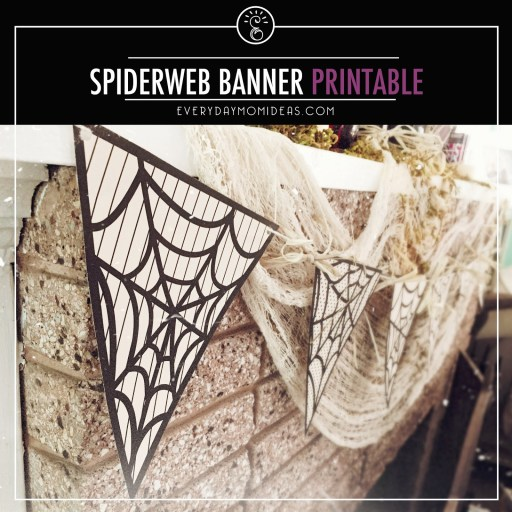 spiderweb banner printable