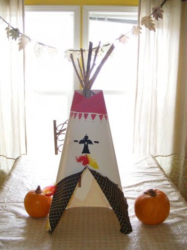 Thanksgiving Tee Pee Centerpiece