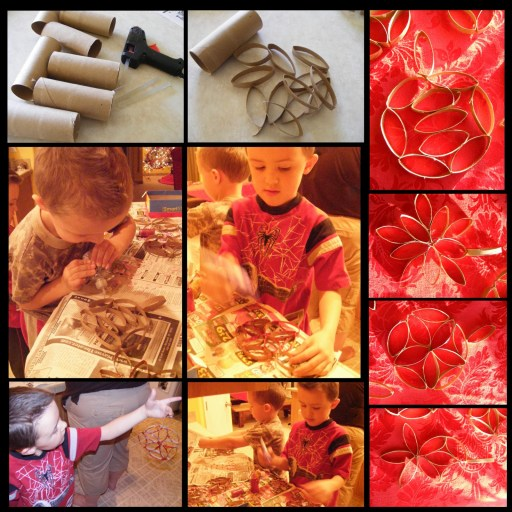 christmas toilet paper craft with kids