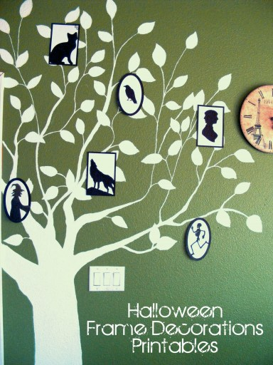 Framed Creepy Silhouette Decorations (FREE Halloween Printable)