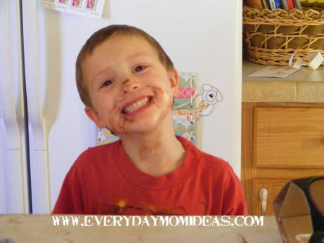 happy cake eater