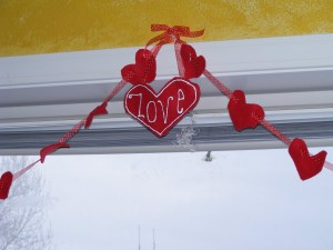 hanging up in the window