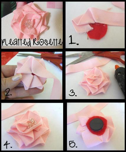 Pleated rosette tutorial