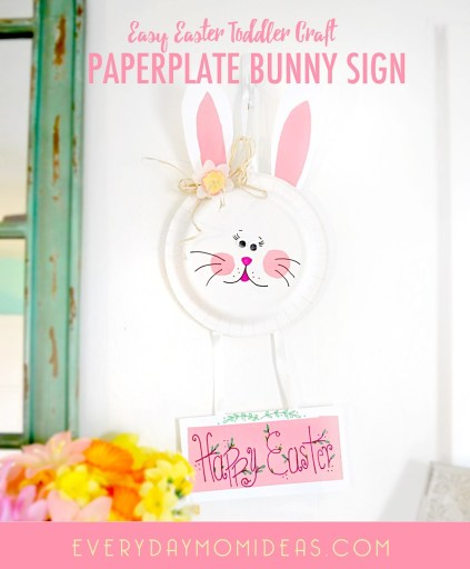 EASTER BUNNY PAPER PLATE KIDS CRAFT