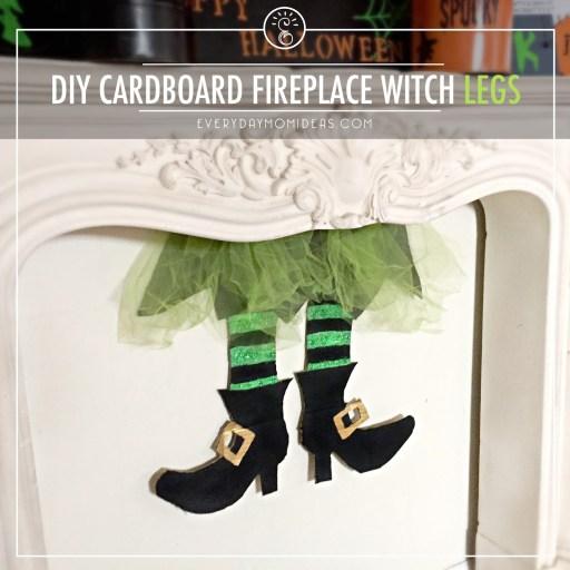 DY CARDBOARD FIREPLACE WITCH LEGS