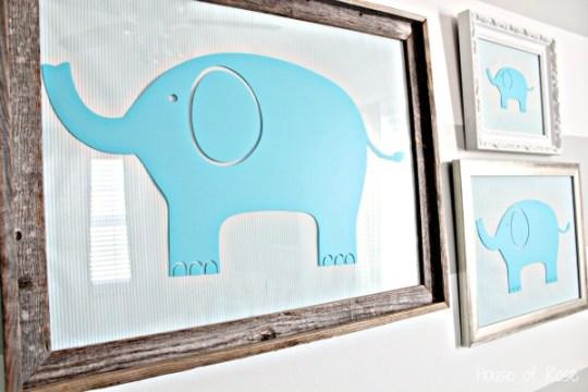 Nursery Ideas Elephant Wall Art