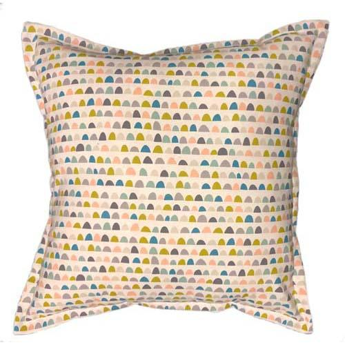 Half moon patterns  in Chartreuse colour cushion | Grey Gardens