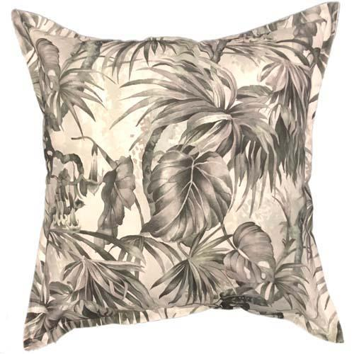 Forest Leaves in smoke colour   Black printed scatter cushions