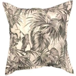 Forest Leaves in smoke colour | Black printed scatter cushions