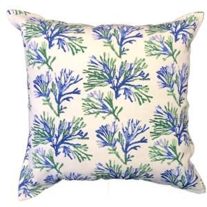 Indigo Coral Cushions