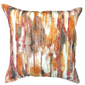 Burnt Watercolour scatter cushion