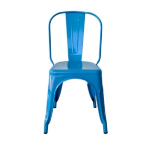 Blue Metal Industrial Chair