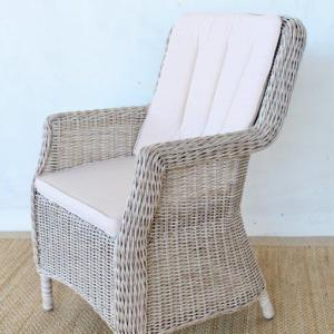 OUTDOOR ARM CHAIR WITH CUSHIONS side view