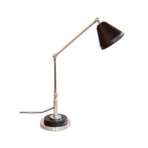 MATT BLACK & SILVER TABLE LAMP