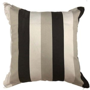Gradient stripe | Grey and Black cushion