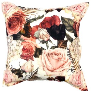 Rust Rose Cushion