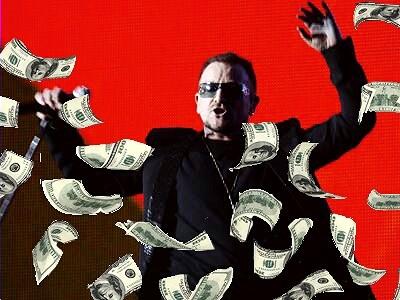 #Post • BONO: U2 Vocalist Now The Wealthiest of Wealthy Musicians /