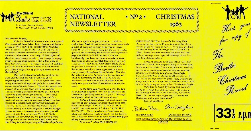 Beatles:ChristmasRecords:1963:Sleeve:Back