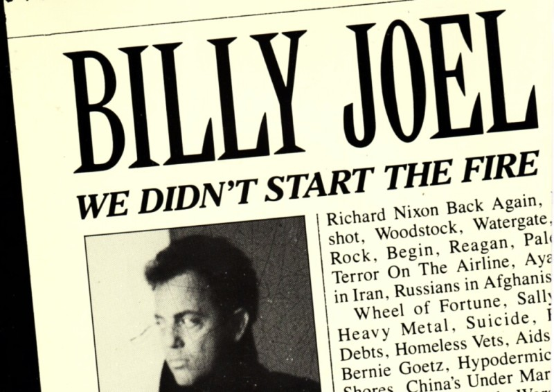 Resultado de imagen de billy joel we didnt start the fire