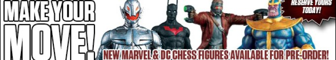 See the newest Marvel and DC Chess figures now!