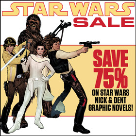 Save 75% on Star Wars N&D graphic novels at TFAW.com