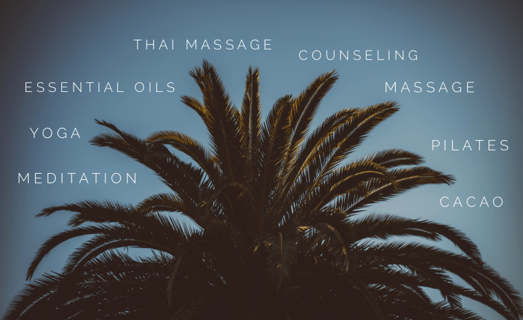 massage movement mental health yoga meditation pilates essential oils counseling