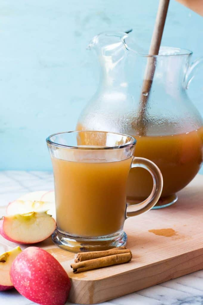 Slow Cooker Pumpkin Spice Apple Cider Recipe | House of Yumm - Enjoy all the flavors of fall with this pumpkin spice infused apple cider made using REAL apples!