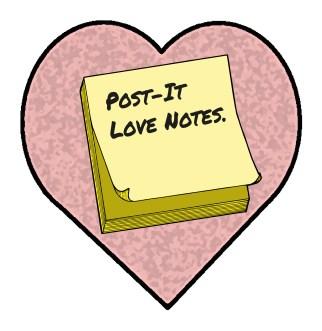 Post-It Loves Notes Logo